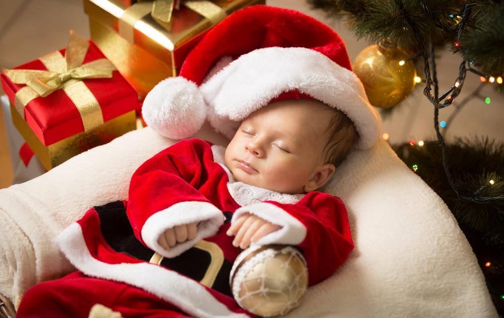 baby under tree