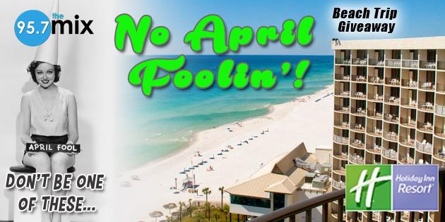 """""""No April Foolin'"""" Beach Trip Giveaway"""