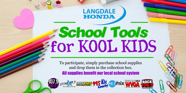 Langdale Honda School Tools for Kool Kids
