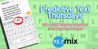 Predictive Text Thursdays