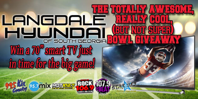 """Win a 70"""" smart TV from Langdale Hyundai and 95.7 The Mix!"""